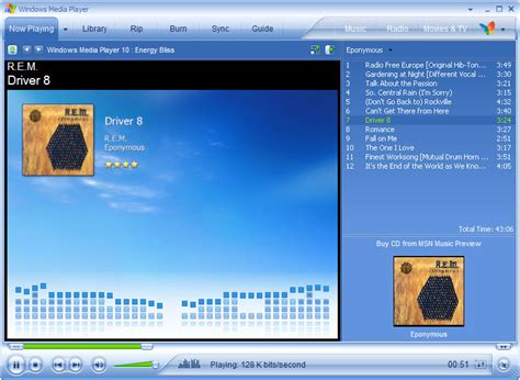 Windows Media Player 10 File Menu Keyboard Shortcuts Keys