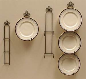 Plate Hangers - Curly Cue Vertical Holders, Plate Racks