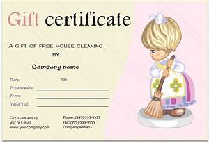 cleaning services gift certificate template With house cleaning gift certificate template