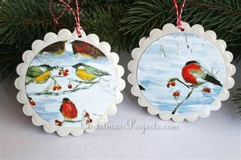 recycled christmas cards ornaments