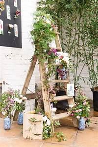 Hochzeit Ideen Deko : land leiter wildblumen hochzeit deko ideen ~ Michelbontemps.com Haus und Dekorationen