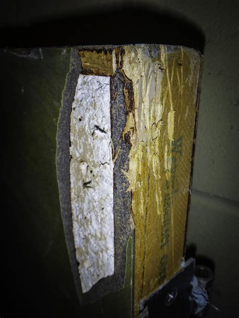 labeled weyerhaeuser core asbestos fire rated door fire