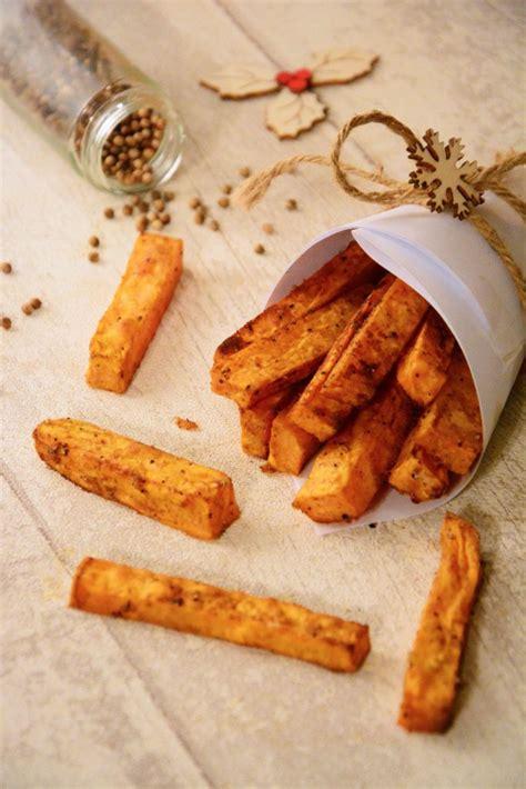 cuisiner la patate douce au four frites de patate douce au four au fil du thym