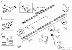 Genie Door Opener G Power 900  Trilog 1200  1500 Rail Parts