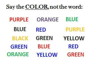 stroop color word test does the flanker test measure anything different from the