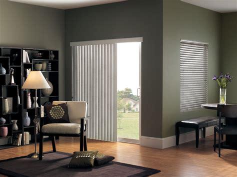 vertical blinds  sliding glass doors modern living