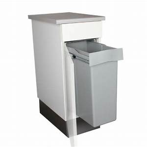 Meuble Poubelle Cuisine : poubelle encastrable coulissante 1 bac 40 litres ~ Dallasstarsshop.com Idées de Décoration