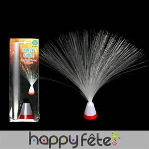 Lampe bouquet de fibre optique