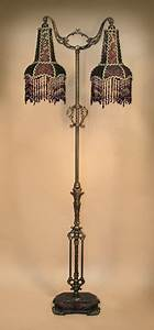 Antique floor lamp with one of a kind victorian style lamp for Antique floor lamp with fringed shade