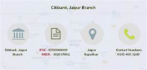 Citibank Jaipur Ifsc Code Citi0000009