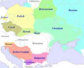 Slavic Language Map