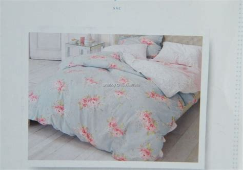 shabby chic hydrangea bedding rachel ashwell simply shabby chic hydrangea rose queen duvet quilt cover set new ebay