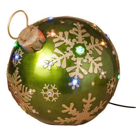 giant green gold christmas lights ornament gems