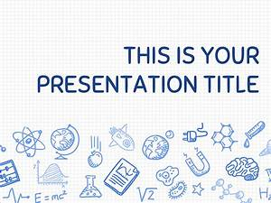 Free presentation template playful science for Google slides templates science