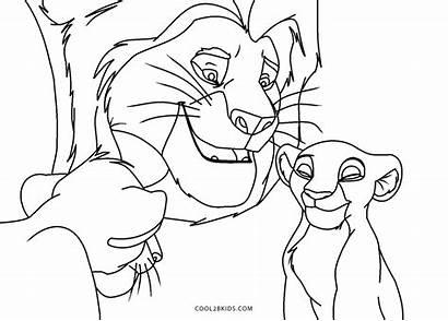 Lion Coloring King Printable