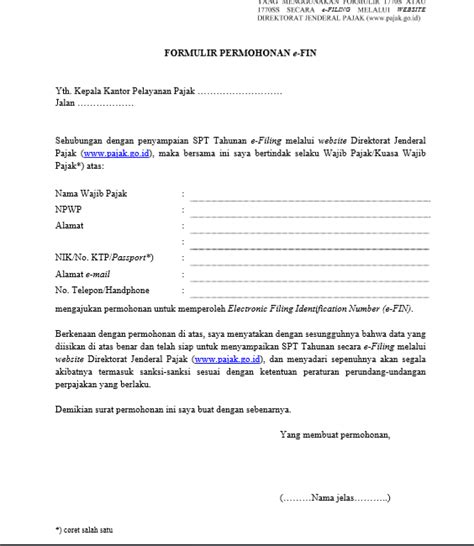 surat permohonan pembatalan faktur pajak contoh surat pemberitahuan pembatalan pajak pada saat