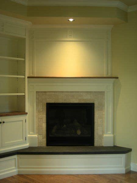 residential corner fireplace smaller   basement