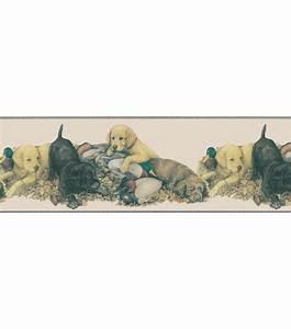 Duck & Dog Nap Wallpaper Border, Khaki Jo Ann