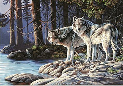 wolf paint  numbers kits absolutely beautiful pbn kits
