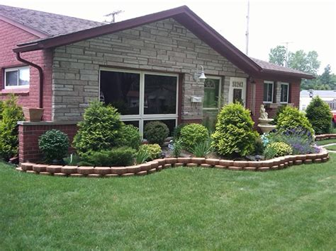 single family home landscaping ideas brick landscaping ideas