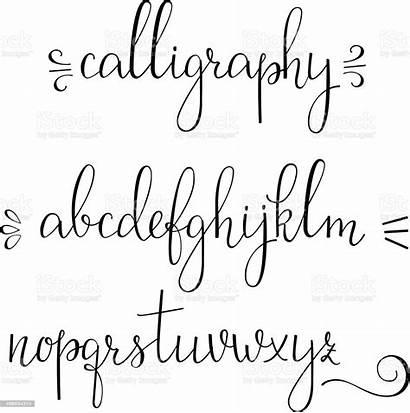 Cursive Calligraphy Font Letra Cursiva Caligrafia Letras