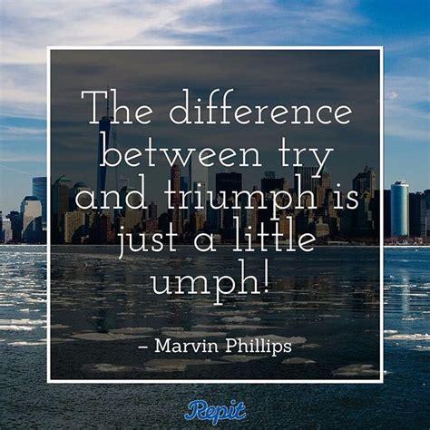 difference    triumph