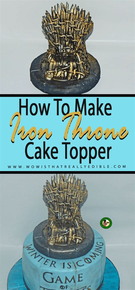 edible game  thrones iron throne cake