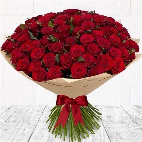 Ziedu piegāde Jēkabpilī 101 sarkana roze. Nosūtīt ziedus ...