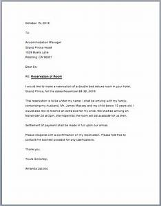 sample hotel reservation letter free sample letters With hotel marketing letter sample