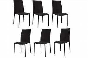 Lot De 6 Chaises Pas Cher : lot de 6 chaises empilables noires design chaise pliante pas cher ~ Teatrodelosmanantiales.com Idées de Décoration
