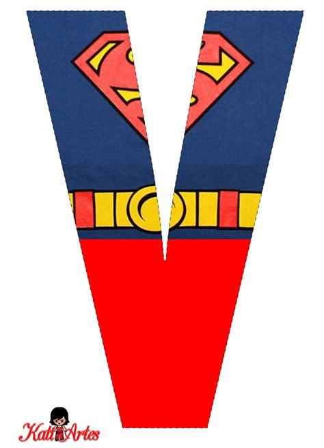 lindo alfabeto de superman gratis   alfabetos