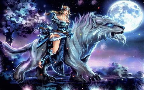 girl shooter mirana riding  beast dota  heroes skin