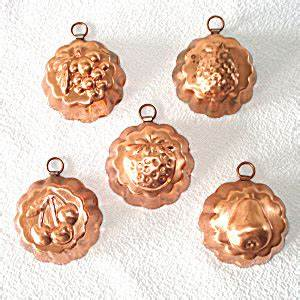 copper miniature candy or tart molds set of 5 With kitchen cabinets lowes with gregorian copper candle holder