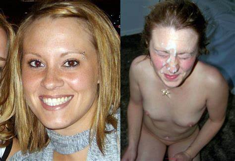 Before Her Billionths Facials Before After Cumbride Cleavage