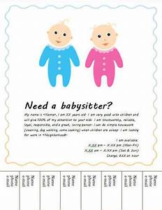 Babysitting poster template cake ideas and designs for Babysitting poster template