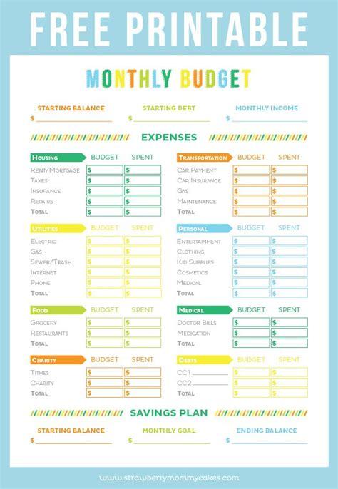 printable budget sheet pmedia printable budget