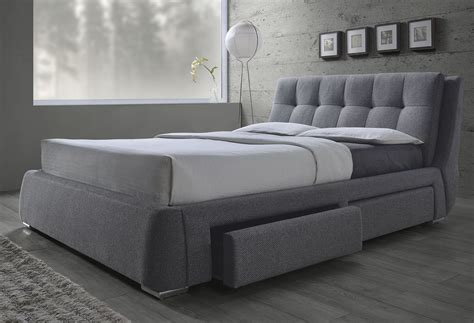 King Size Bed by Fenbrook Grey King Size Bed With Storage 300523ke Savvy
