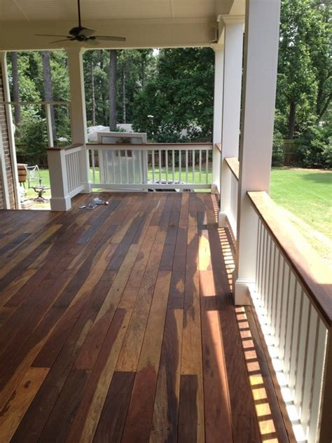 covered ipe wood deck traditional porch atlanta