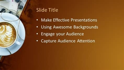 morning coffee powerpoint template  powerpoint