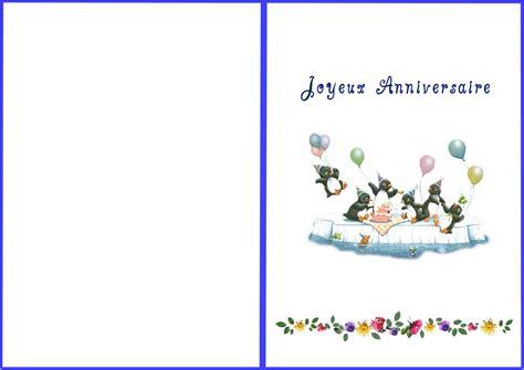 Carte De à Imprimer by Carte D Invitation Anniversaire 224 Imprimer Carte D