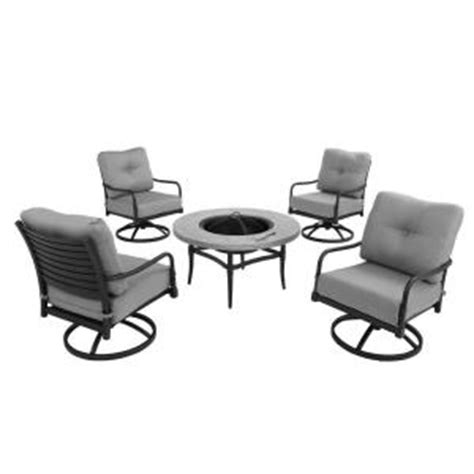 hton bay 5 patio pit chat set with