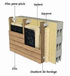 Isolation Extérieure Bois : pose isolation exterieure bardage en laine de roche ~ Premium-room.com Idées de Décoration