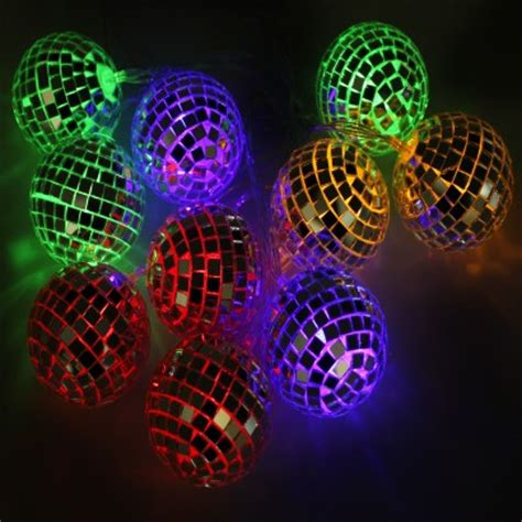 retro glitter ball string lights