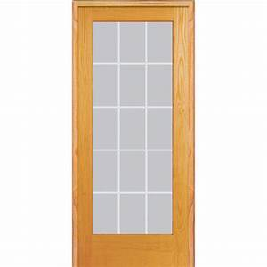 mmi door 36 in x 80 in right hand unfinished pine glass With 36 x 80 french door