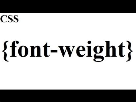 css how to font weight youtube