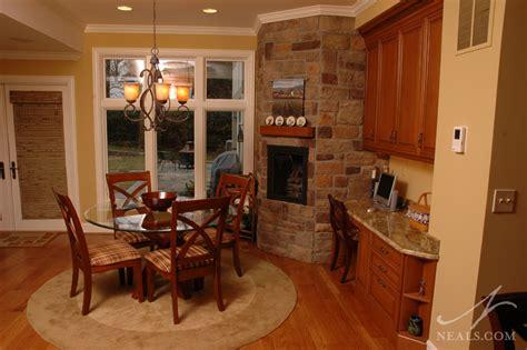 den  kitchen fireplace remodel hyde park