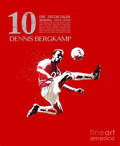 Dennis Bergkamp - invincibles arsenal Painting by Art Popop