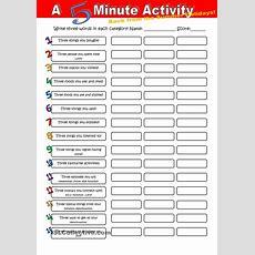 A 5 Minute Activity Back From The Summer Holidays  Teacher Teacher  Pinterest Activities