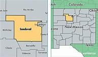 Sandoval County, New Mexico / Map of Sandoval County, NM ...