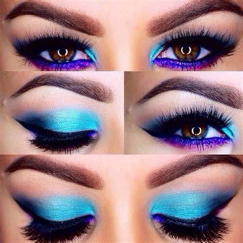 rock blue makeup   blue makeup ideas tutorials flawlessendcom